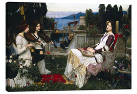 Leinwandbild  Saint Cecilia - John William Waterhouse