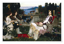 Premium-Poster  Saint Cecilia - John William Waterhouse