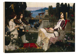 Holzbild  Saint Cecilia - John William Waterhouse