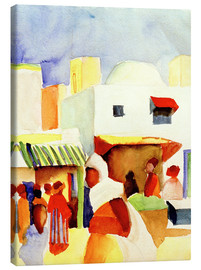 Leinwandbild  Markt in Tunis I - August Macke