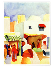 Premium-Poster  Markt in Tunis I - August Macke