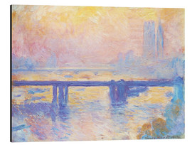 Alubild  Charing Cross Brücke - Claude Monet