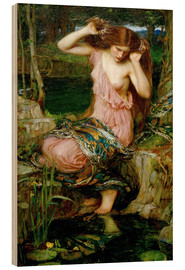 Holzbild  Lamia - John William Waterhouse