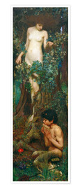 Premium-Poster  Hamadryade - John William Waterhouse