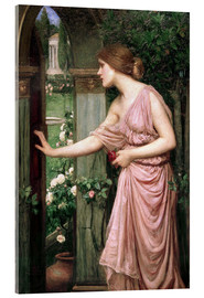 Acrylglasbild  Psyche öffnet Amors Gartentor - John William Waterhouse