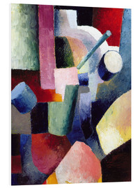 Hartschaumbild  Farbige Formenkomposition - August Macke