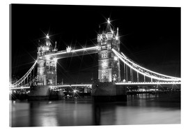 Acrylglasbild  Tower Bridge by Night sw - Melanie Viola