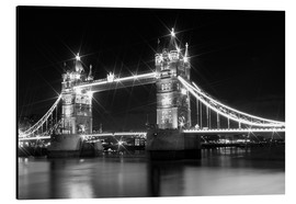 Alubild  Tower Bridge by Night sw - Melanie Viola