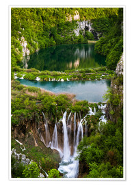 Poster  Wasserfall Paradies Plitvicer Seen - Andreas Wonisch