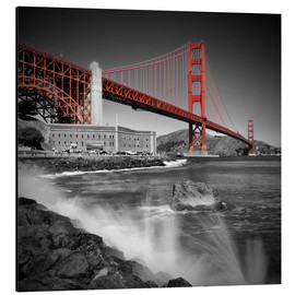 Alu-Dibond  Golden Gate Bridge Fort Point - Melanie Viola