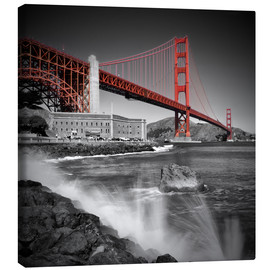 Leinwandbild  Golden Gate Bridge Fort Point - Melanie Viola