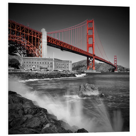 Hartschaumbild  Golden Gate Bridge Fort Point - Melanie Viola