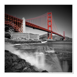 Premium-Poster Golden Gate Bridge Fort Point