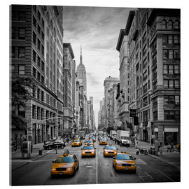 Acrylglas  NEW YORK CITY 5th Avenue Verkehr - Melanie Viola