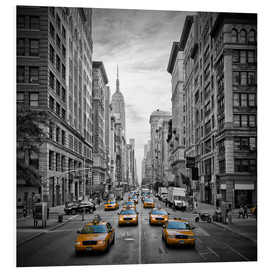 Hartschaumbild  NEW YORK CITY 5th Avenue Verkehr - Melanie Viola
