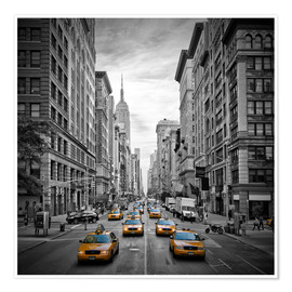 Premium-Poster New York City, Verkehr auf 5th Avenue