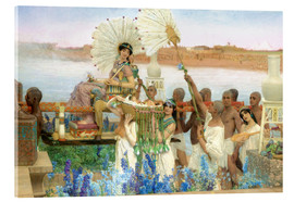 Acrylglasbild  Auffindung Moses durch die Tochter des Pharao - Lawrence Alma-Tadema