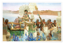 Premium-Poster  Auffindung Moses durch die Tochter des Pharao - Lawrence Alma-Tadema
