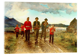 Acrylglasbild  'Listed for the Connaught Rangers': Recruiting in Ireland, 1878 - Lady Butler