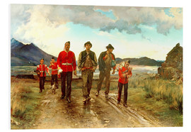 Hartschaumbild  'Listed for the Connaught Rangers': Recruiting in Ireland, 1878 - Lady Butler