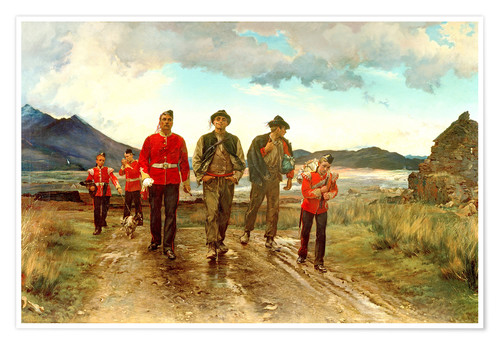 Premium-Poster 'Listed for the Connaught Rangers': Recruiting in Ireland, 1878