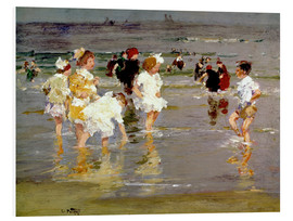 Hartschaumbild  Kinder am Strand - Edward Henry Potthast