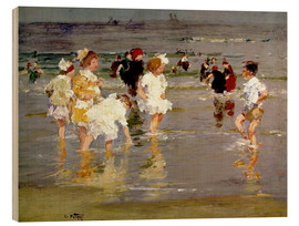 Holzbild  Kinder am Strand - Edward Henry Potthast