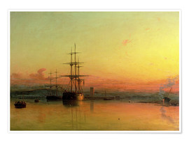 Premium-Poster  Sonnenuntergang in der Bucht v. Exmouth - Francis Danby