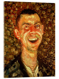Acrylglas  Self Portrait Laughing, 1908 - Richard Gerstl