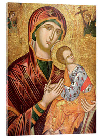 Acrylglas  Mother of God of the Passion, Greek Icon from Crete, early 16th century