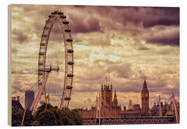 Holzbild  London Eye & Big Ben - Stefan Becker