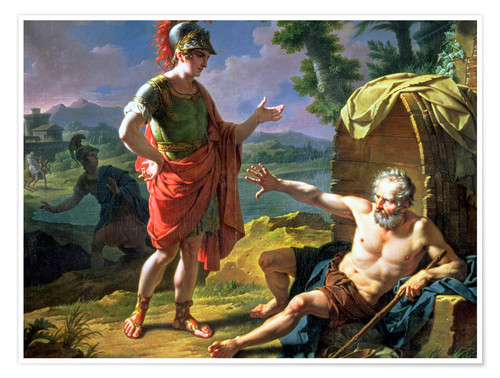 Premium-Poster Alexander and Diogenes, 1818