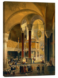 Leinwandbild  Haghia Sophia, plate 8: the Imperial Gallery and box, engraved by Louis Haghe published 1852 - Gaspard Fossati