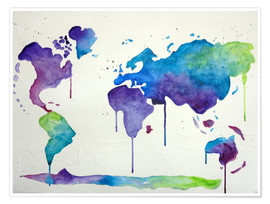 Poster Colour Worldtrip