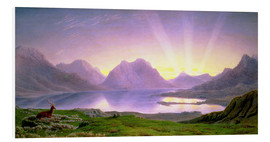 Hartschaumbild  Die Dämmerung, Loch Torridon - William Turner of Oxford