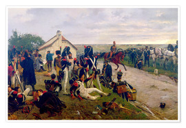 Poster  The Morning of The Battle of Waterloo: the French Await Napoleon's Orders, 1876 - Ernest Crofts