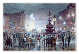 Poster  Piccadilly Circus abei Nacht, 1911 - Thomas Prytherch