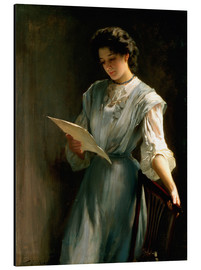 Alubild  Den Brief lesen - Thomas Benjamin Kennington
