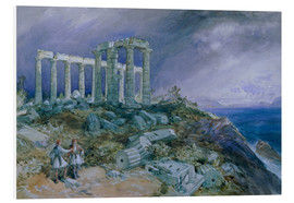 Hartschaumbild  Der Tempel des Poseidon, Sunium, 1877 - William 'Crimea' Simpson