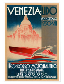 Premium-Poster  Venezia Lido 1930 - Travel Collection