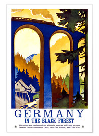 Premium-Poster  Deutschland - Schwarzwald - Travel Collection