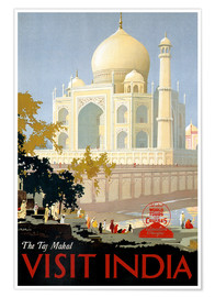 Premium-Poster  Indien - Taj Mahal - Travel Collection