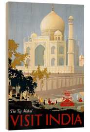 Holzbild  Indien - Taj Mahal - Travel Collection