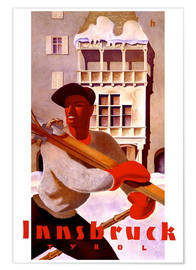 Premium-Poster  Innsbruck - Tirol - Travel Collection