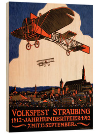 Holzbild  Volksfest Straubing 1812 - Advertising Collection