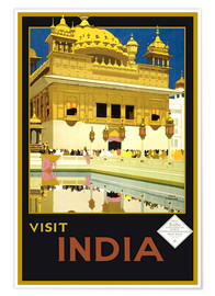 Premium-Poster  Indien - Delhi Haus - Travel Collection