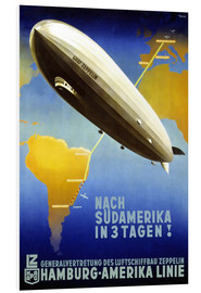 Hartschaumbild  Hamburg Amerika Linie - Graf Zeppelin - Travel Collection
