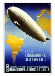 Premium-Poster  Hamburg Amerika Linie ? Graf Zeppelin - Travel Collection