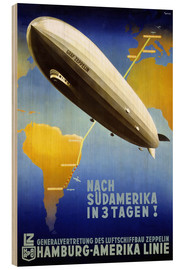 Holzbild  Hamburg Amerika Linie ? Graf Zeppelin - Travel Collection