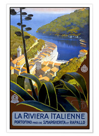 Premium-Poster  Italien ? La Riviera Italienne - Travel Collection